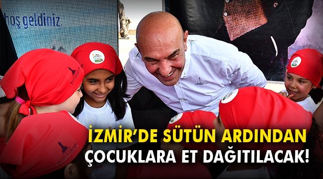 İzmir'de sütün ardından çocuklara et dağıtılacak