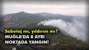 Muğla'da 8 ayrı noktada yangın!