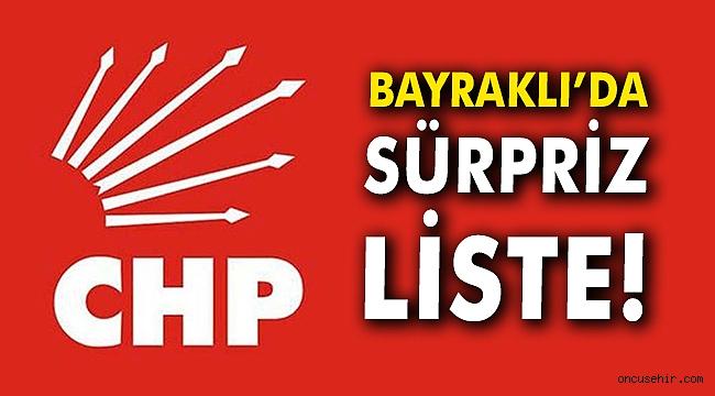 Bayraklı'da sürpriz liste!