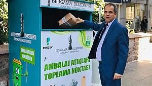 Bergama'da ambalaj atıkları toplama çalışmaları hızlandı