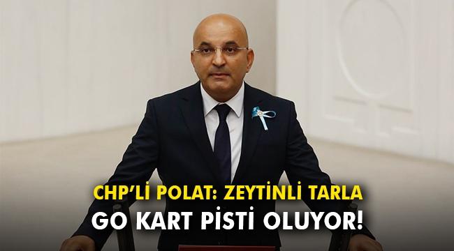 CHP'li Polat: Zeytinli tarla Go kart pisti oluyor!