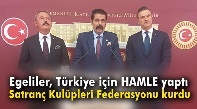 Egeliler, Türkiye için HAMLE yaptı; Satranç Kulüpleri Federasyonunu kurdu