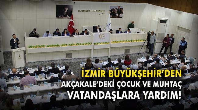 İzmir Büyükşehir'den Akçakale'deki çocuk ve muhtaç vatandaşlara yardım!