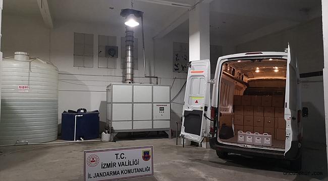 İzmir'de 18 bin litre etil alkol ele geçirildi