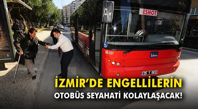 İzmir'de engellilerin otobüs seyahati kolaylaşacak