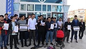 İzmir'de İsrail'in Gazze'deki saldırılarına tepki