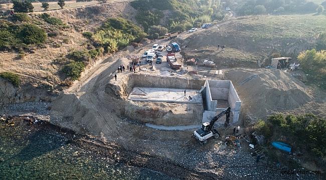 Karaburun'daki sit alanına yapılan inşaatta yıkım başladı