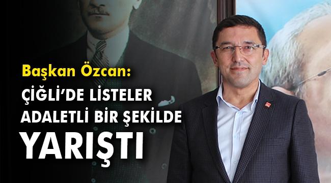 Mert Özcan: Çiğli'de listeler adaletli bir şekilde yarıştı