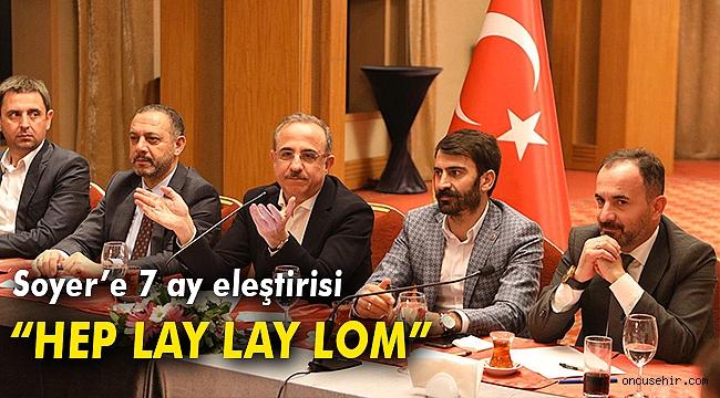 Sürekli'den Soyer'e çağırı: Genel politikayı bırak İzmir'e bak!