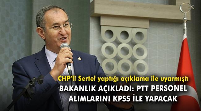 Bakanlık açıkladı: PTT personel alımlarını KPSS ile yapacak
