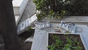 Bornova'da mezarlara zarar verilmesine ilişkin çalışma başlatıldı