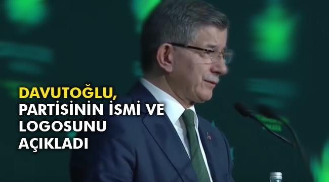 Davutoğlu, partisinin ismi ve logosunu açıkladı