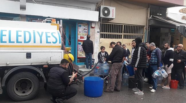 Su verilemeyen mahallelere tankerlerle su dağıtıldı