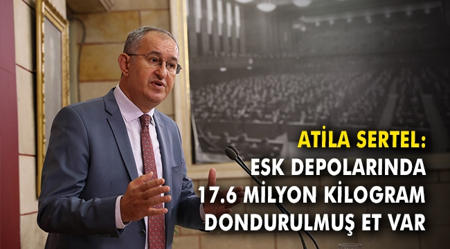 Atila Sertel: ESK depolarında 17.6 milyon kilogram dondurulmuş et var