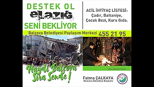 Balçova'dan Elazığ'a dost eli