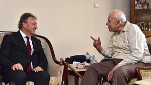 """Başkan İduğ'dan eski başkana ziyaret: """"Sizin takipçinizim"""""""