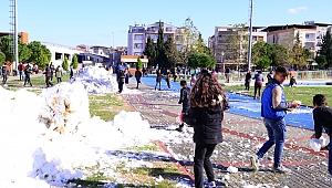 Başkan Karakayalı'dan çocuklara kar sürprizi