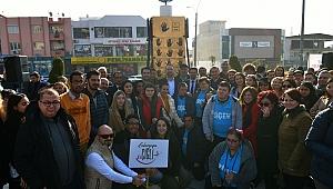 Çiğli'ye öğrencilerin el izlerinden oluşan AISECEC Point anıtı