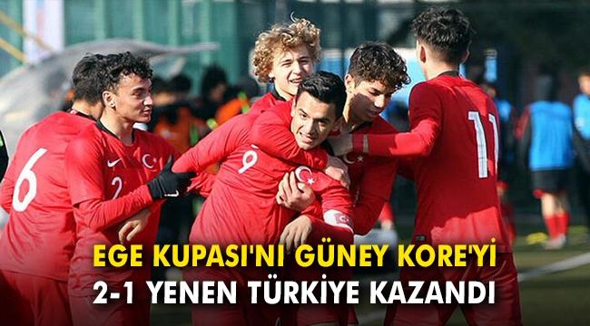 Ege Kupası'nı Güney Kore'yi 2-1 yenen Türkiye kazandı