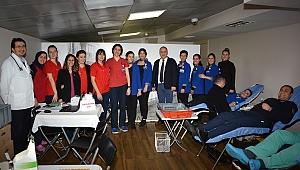Egepol çalışanlarından kan bağışı kampanyası