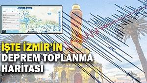 İşte İzmir'in deprem toplanma haritası