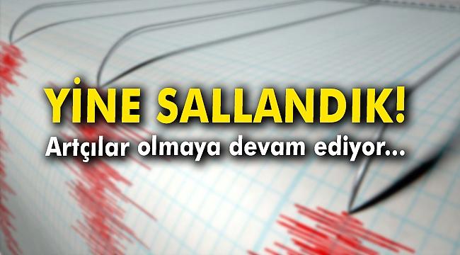 İzmir'de korkutan deprem! Artçılar olmaya devam ediyor...