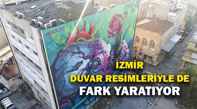 İzmir duvar resimleriyle de fark yaratıyor