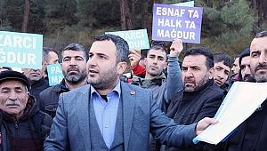 İzmir Pazarcılar Derneği'nden, Konak'ta kaldırılan mahalle pazarı için eylem