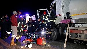 Manisa'da tanker kazası: 1 kişi ağır yaralı