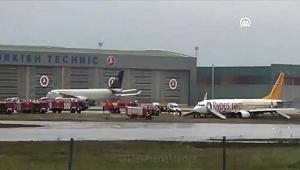 Sabiha Gökçen Havalimanı'nda uçak pistten çıktı! Tüm seferler iptal…
