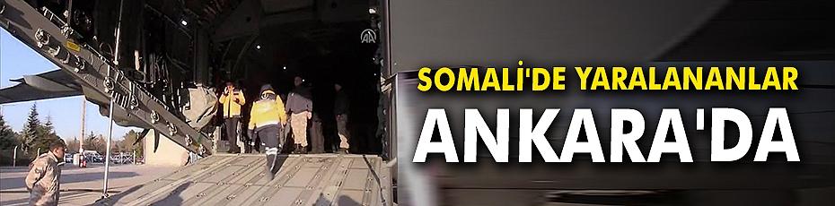 Somali'de yaralananlar Ankara'da