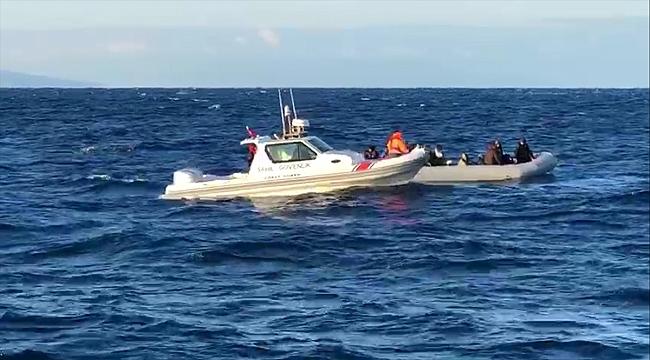 Foça'da göçmen operasyonu