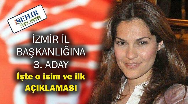 İzmir İl Başkanlığına kadın aday