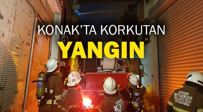 Konak'ta korkutan yangın