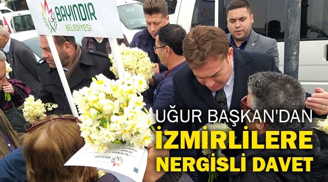Uğur Başkan'dan İzmirlilere nergisli davet