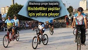 Bisikletliler yaşlılar için yollara çıkıyor
