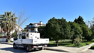 Bornova'da parklara kablo hırsızları dadandı!