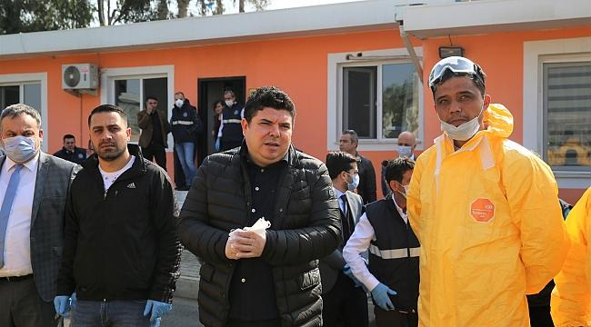 Buca'da topyekûn mücadele: Gece gündüz dezenfekte