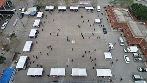 Efes Selçuk'ta halkın pazarı açıldı