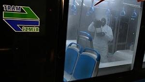 İzmir'de toplu ulaşıma virüs önlemi