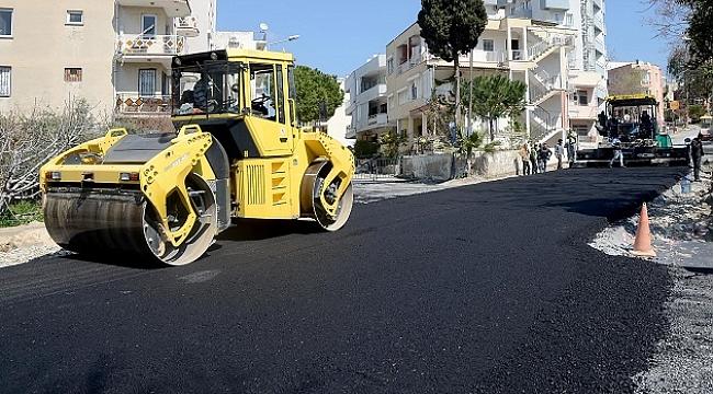 Kuşadası Belediyesi'nden asfaltlama seferberliği