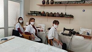 Menemen'den örnek girişim: Maske üretimine başladı