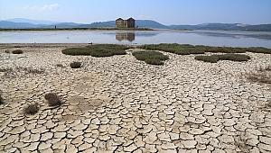 Muğla'da korkutan görüntü: Gölün suyu çekildi!