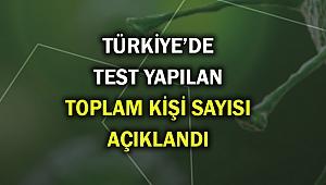 Türkiye'de bugüne kadar kaç kişiye corona testi yapıldı? İşte açıklaması...