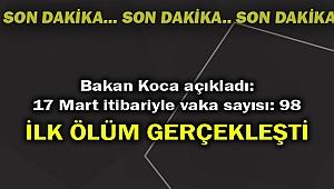 Türkiye'de corona virüsten ilk ölüm!