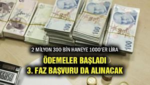 2 Milyon 300 bin haneye 1000'er lira ödeme başladı... Devamı da var!