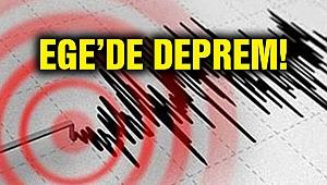 Ege Denizinde 4,7 büyüklüğünde deprem, hasar yok