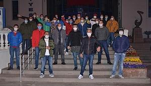 Fransa'dan gönderilen 31 işçiye Başkan Günel sahip çıktı