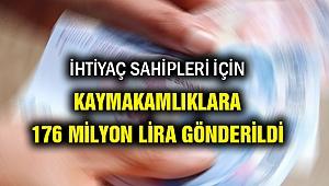 İhtiyaç sahipleri için SYDV'larına 176 milyon lira gönderildi