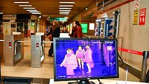 İzmir'de ilk termal kamera sistemi Konak metro istasyonunda